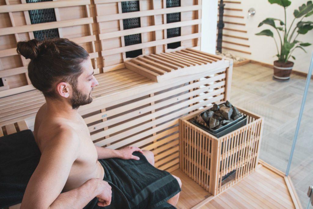 Sauna mit person